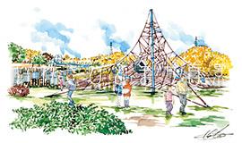 21世紀の森公園のわんぱく広場