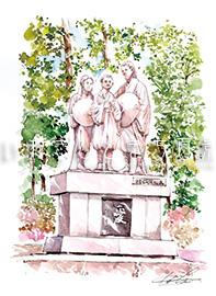 安寿姫・厨子王の母子像