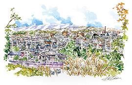 平成ニュータウンより平市街を望む